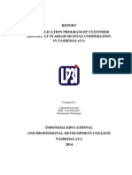 REPORT  THE APPLICATION PROGRAM OF CUSTOMER DEPOSIT AT SYARIAH MUMTAZ COOPERATION IN TASIKMALAYA