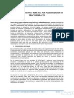 Producción de Resinas Acrílicas Por Polimerización en Reactores Batch(solocion del problema 32)