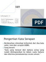 Kata Serapan-Bahasa Indonesia