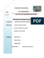 Procesos de Manufactura Informe Final