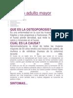 Cuidado Adulto Mayor Osteoporosis