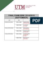 Final Exam MBA Sem 1 2014-2015