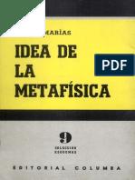 Idea de La Metafisica - Julían Marías