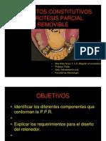 Elementos constitutivos de protesis parcial removible