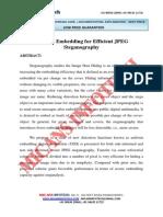 Uniform Embedding for Efficient JPEG Steganography - IEEE Project 2014-2015