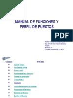Manual de Funciones y Perfil de Puestos
