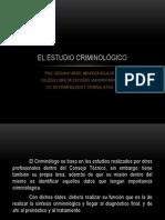 EL ESTUDIO CRIMINOLOGICO