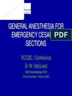 General Anesthesia for C-S Final 1