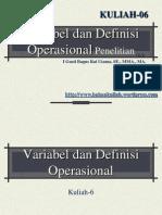 Variabel Dan Defenisi Operasional Penelitian