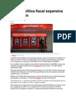 Habrá Política Fiscal Expansiva en México