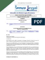 Reglamento a La Ley de Personal 2009 (Reforma 2010)