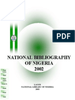 THE NATIONAL BIBLIOGRAPHY OF NIGERIA
