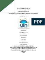 JURNAL PRAKTIKUM Analitik II Huda Gravimetri-libre