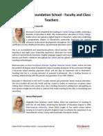Dubai British Foundation School - Faculty and Class Teachers