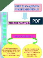 Konsep Manajemen Dan Kepemimpinan