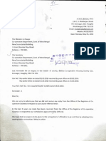 Complaint Letter submitted to the Secretary of Co-operation Department on Wednesday, 14 May 2014.