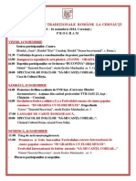 Program Zilele Culturii Romane Traditionale la Cernauti