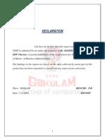 a study on gokulam entrepreneur visit