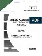 Soal Un Bahasa Indonesia Sd p1 2013
