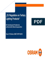 EU Regulation on Tertiary Lighting Products De