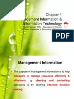 Chapter 1 Management Information & Information Technology
