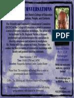 Nettles Diversity Workshop Nov 7 Flyer
