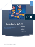 Barilla Spa Case Study