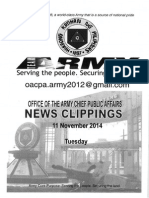 11 Nov 14 News Clippings
