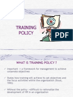Week 3 - Development of Training Policy (1).ppt