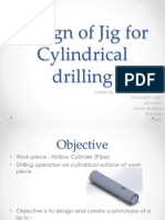 Design of Jig for Cylindrical Drilling