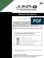 Manual telclado Roland JUNO-G