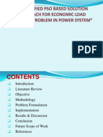 A MODIFIED PSO BASED SOLUTION APPROACH FOR ECONOMIC LOAD DISPATCH PROBLEM IN POWER SYSTEM