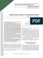 2013_Training Methods to Improve Vertical Jump Performance