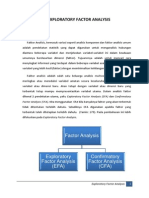 Exploratory Factor Analysis EFA