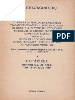 Hotararea Plenarei PMR Din Iulie 1959