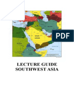 Lecture Guide Southwest Asia