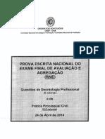 Enunciados e grelha de correcção do ENAA de 2014 04 24