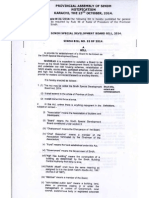 The Sindh Special Development Board Bill 2014(1)