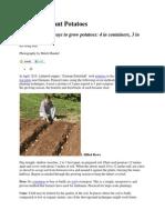 7 Ways to Plant Potatoes