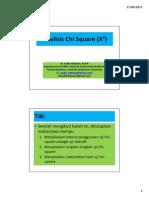 Analisis Chi Square (X2)