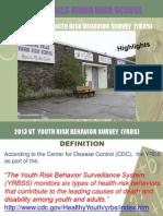 bfuhs 2013 youth risk behavior survey highlights
