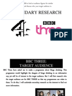 bbc three  channel 4 target audience