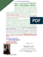 Foros, Fueros, Políticos y Medios j.v. Herrera y Defensores Varios