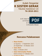 Dr.zain Sabta Nugraha Kuliah Pengantar Blok Sistem Gerak TA 2010-2011