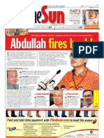 The Sun Malaysia Cover (7 April 2008)
