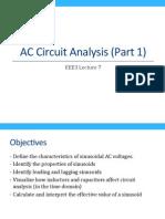 AC Circuit Analysis (Part 1)