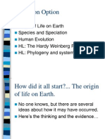 evolution option