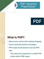 PHP:Hypertext Preprocessor
