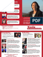 Kezia for Deputy A5 Flyer