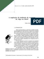A Regulação Da Indústria de Moagem de Trigo No Brasil